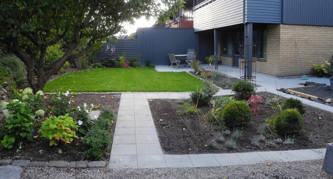 Liten trädgård – före och efter